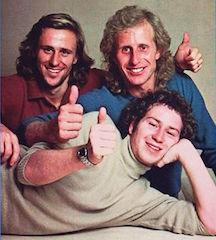 John McEnroe, Bjorn Borg, Vitas Gerulaitis rocking 70s winter casuals