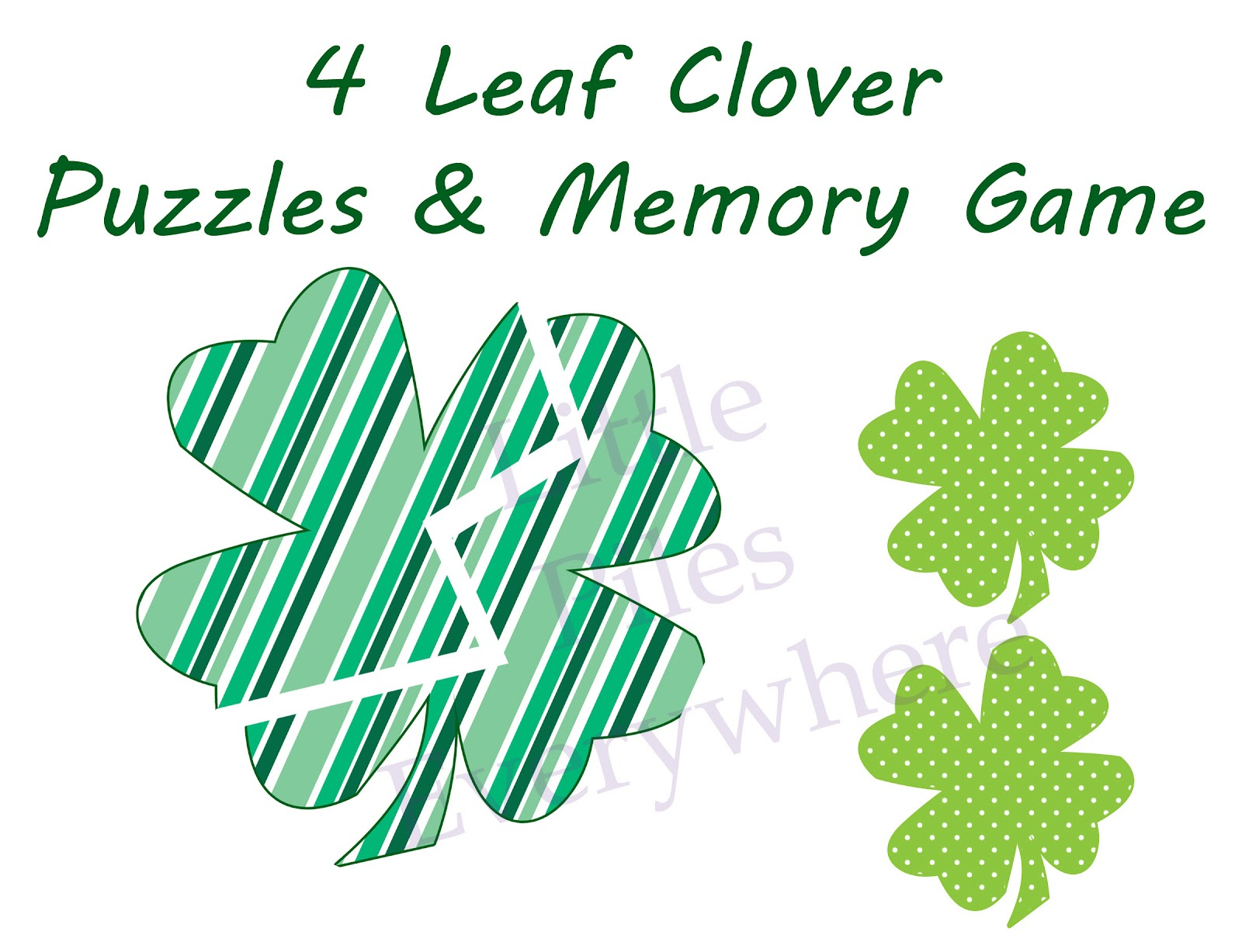Little Piles Everywhere 4 Leaf Clover Puzzles Amp Memory Game