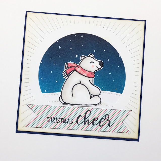 Sunny Studio Stamps: Playful Polar Bears Festive Greetings Winter Card by Melissa Yates