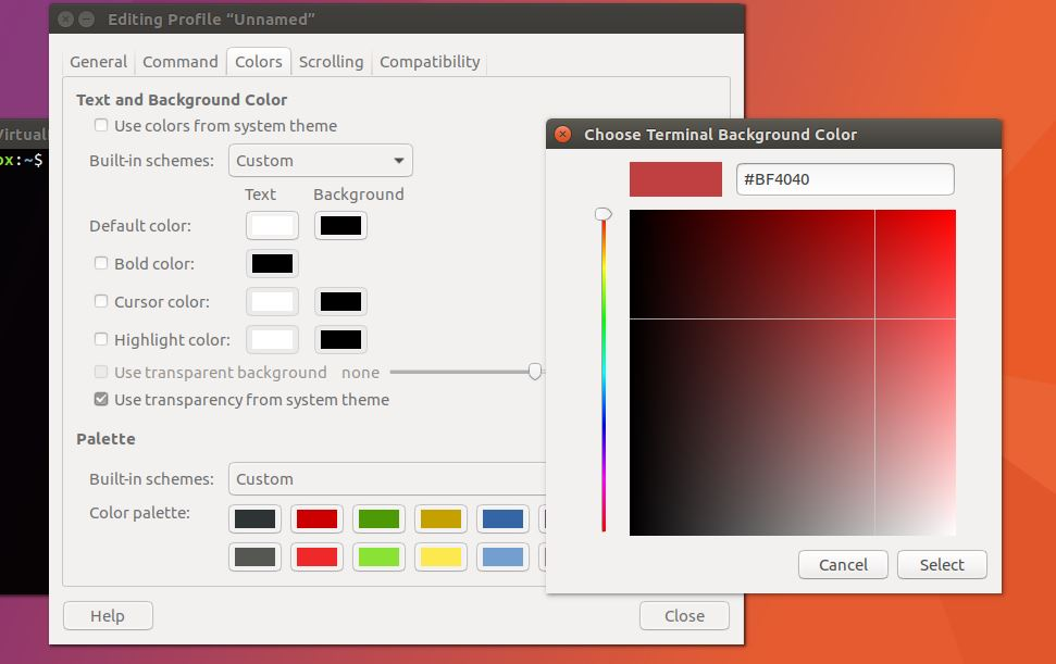 How To Change Terminal Color in Ubuntu Linux: Background and Text