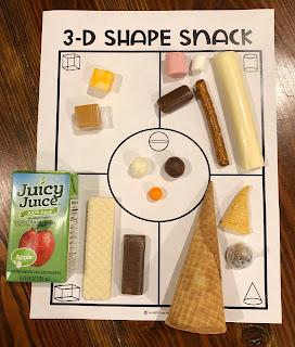 3-D Shape Snack Activity