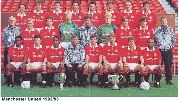 premier league champions man united 1992/93 squad