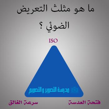 ما هو مثلث التعريض الضوئي ؟
