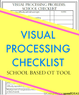Visual Processing Problems checklist for school based Occupational Therapists
