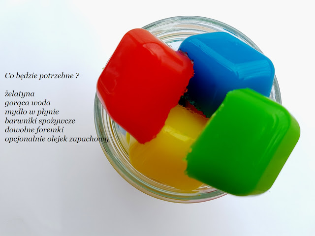żelowe mydełka DIY - do it yourself -  DIY - handmade gel soap - mydło handmade - integracja sensoryczna - SI - zabawy sensoryczne - sensory play - sensory acitivities - zabawy dla dzieci - kids crafts