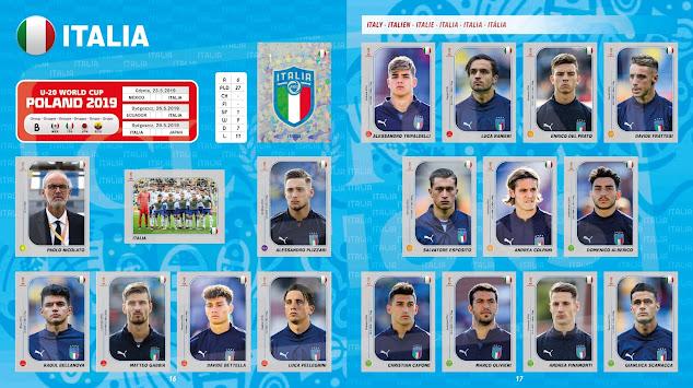 Figurine Italia Under 20 2019