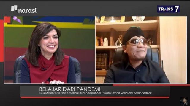 Jawaban Gus Miftah Soal Lebih Takut Allah atau Corona, Najwa Shihab Tertawa Sampai Minta Diulang