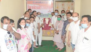 राजीव गांधी जी की 76 वी जयंती सद्भावना दिवस के रूप में मनाई गई