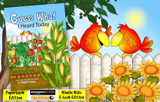 Guess What I Heard Today childrens storybook written and illustrated by Annie Lang
