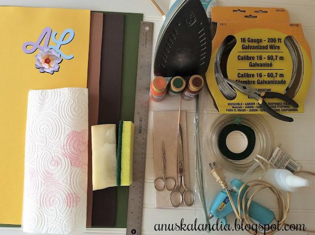 Girasoles-goma-eva-foamy-lista-de-materiales-Anuskalandia
