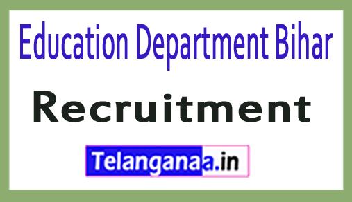 Education Department Bihar Recruitment