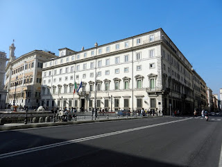The Palazzo Chigi in Rome, the official residence of  the Italian prime minister