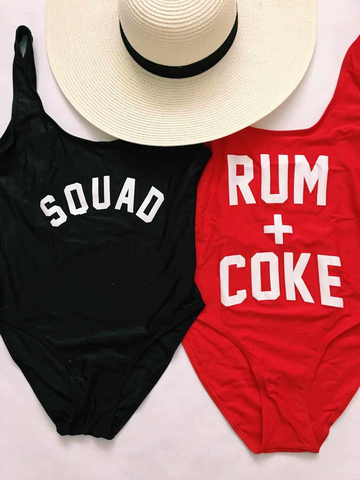SQUAD, RUM + COKE swimsuit