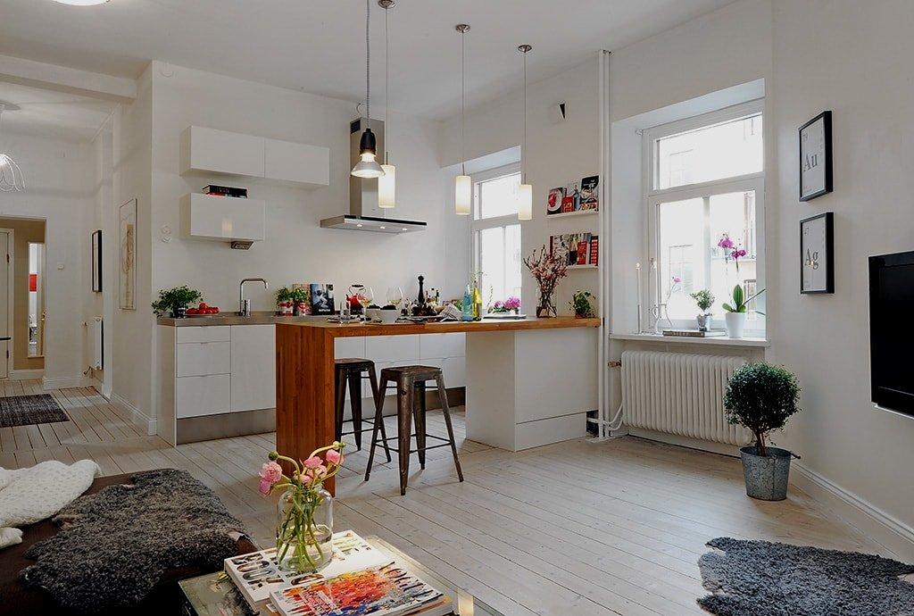 25 peque as cocinas para el sal n cocinas con estilo for Cocina unida al salon
