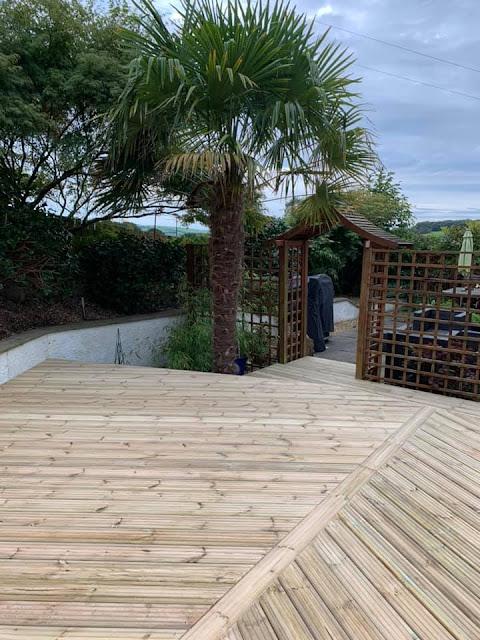 Garden deck design wales