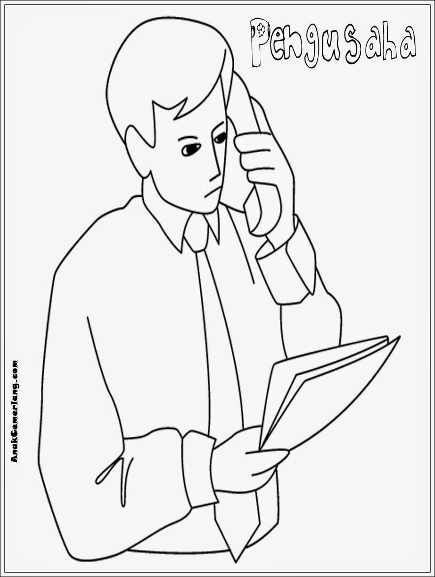 Download Gambar Sketsa Profesi Pekerjaan Sketsabaru