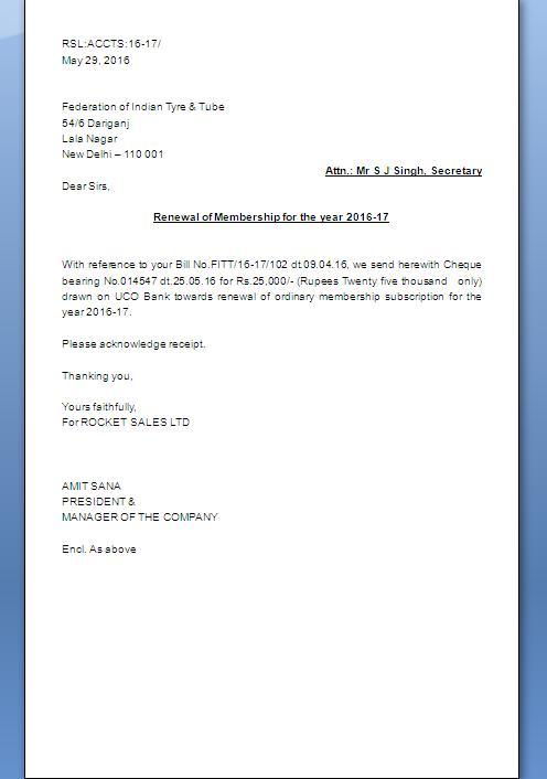 Magazine Subscription Renewal Letter Sample