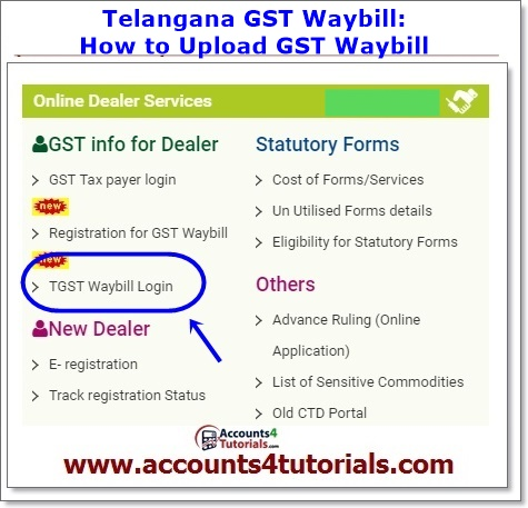 how to get gst waybill for telangana vat dealers