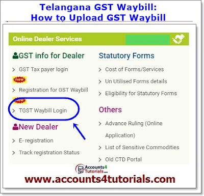 gst waybill for vat and cst telangana dealers