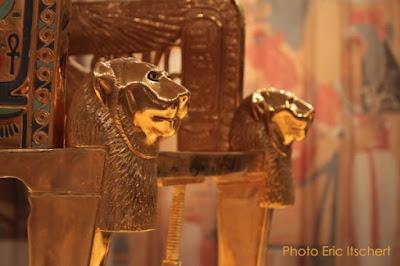 Symbolisme, lion, gardien, Horus, Toutankhamon, paire,