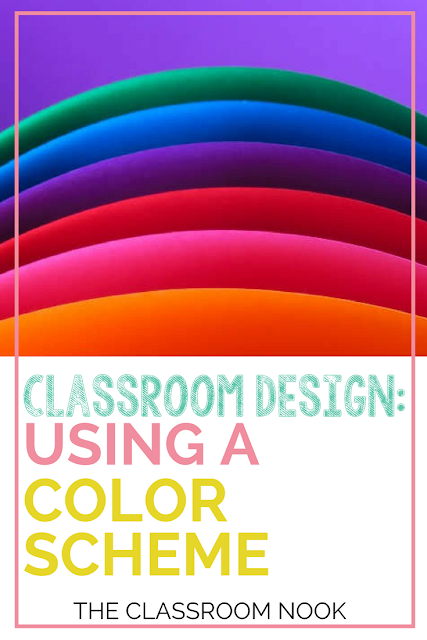 Tips and Ideas for creating a classroom with a color scheme, perfect for any elementary or middle school classroom.  #classroomdesign #backtoschool #classroom #elementary #middleschool #classroomdecor #teacher