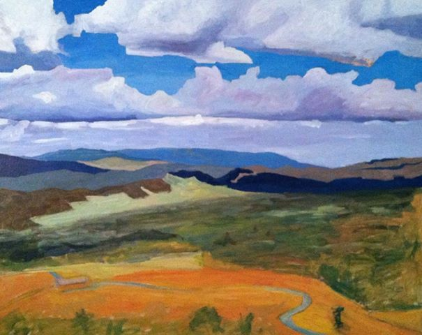 Art By Keith Johnson Germany Valley West Virginia Landscape Painting