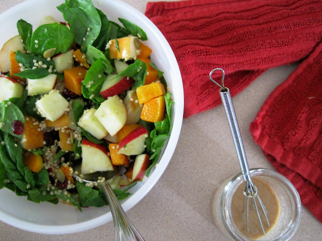 Hearty Butternut Squash Spinach Salad