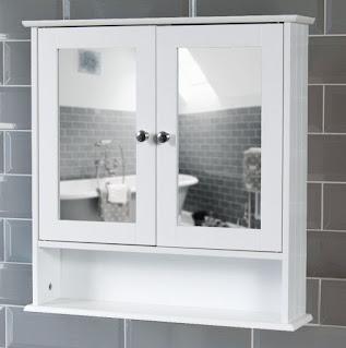 glass bathroom wall cabinet