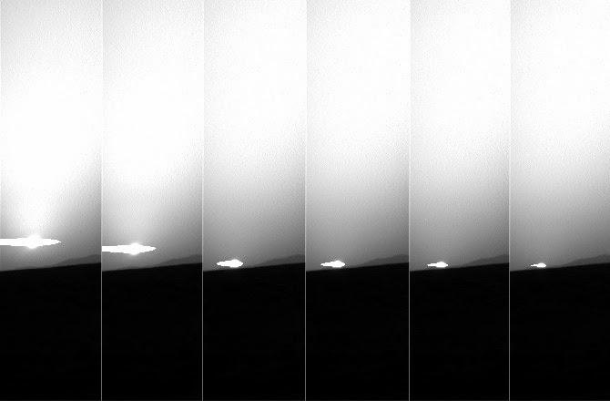 por do sol em marte visto pela sonda curiosity