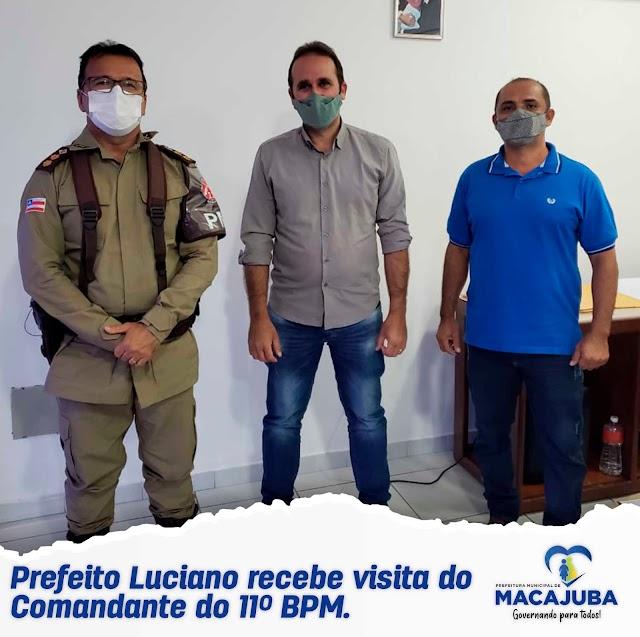 Prefeito Luciano recebe visita do Comandante do 11º BPM
