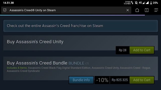 Assassin Creed unity turun harga rp28