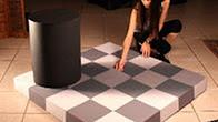 Оптична ілюзія з тінню і світлом