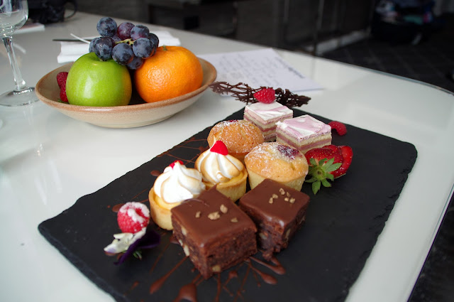 a tray of sweets from swissotel sydney
