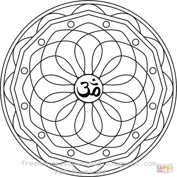 Symbol Mandala free Download Pdf - Free Mandala