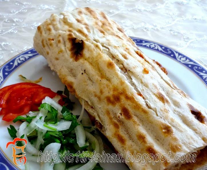 TAVUKLU DÜRÜM (Chicken roll flat bread) #tavukludürüm #chickenkebab #turkishkebab #resepmasakanturki