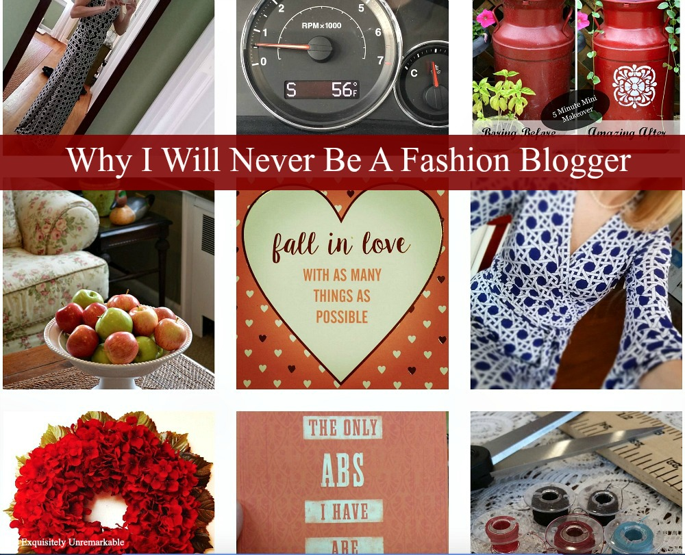 Why I Will Never Be A Fashion Blogger