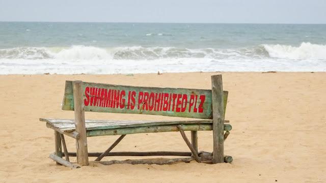 Benin beach is under construction