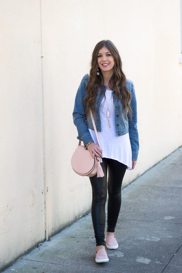 Style Faux Leather Leggings For Spring