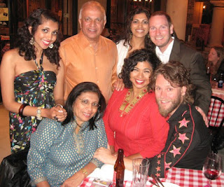Picture of Aarti Sequeira with her family members