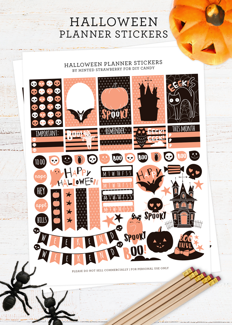 printable planner stickers at DIY Candy