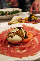 Burrata: Mozzarella, Tomato, and Prosciutto at Briciola