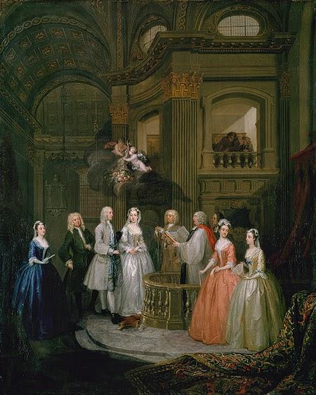 William Hogarth - Boda de Stephen Beckingham y Mary Cox - 1729