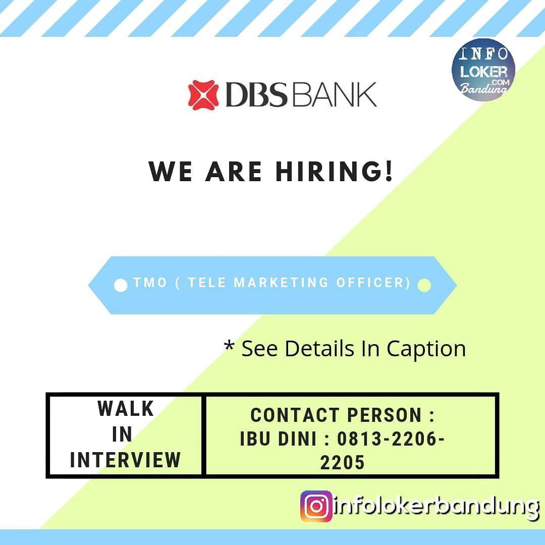 Lowongan Kerja Telemarketing Officer DBS Bank Bandung Desember 2018