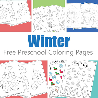 free winter preschool coloring pages