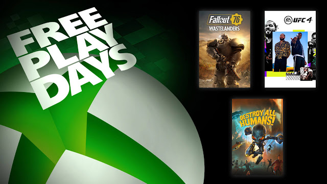 destroy all humans fallout 76 ufc 4 xbox live gold free play days event