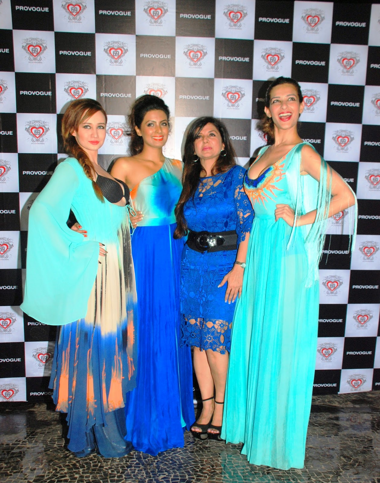 Stephanie Timmins with Actress Geeta Basra & Designer Babita Malkani
