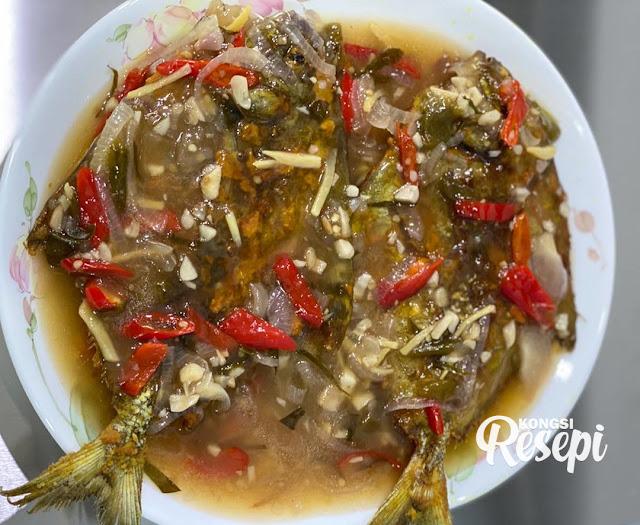resepi ikan bawal putih masak asam pedas ikan bawal putih azie kitchen  ekor ikan bawal Resepi Ikan Putih Masak Asam Pedas Enak dan Mudah