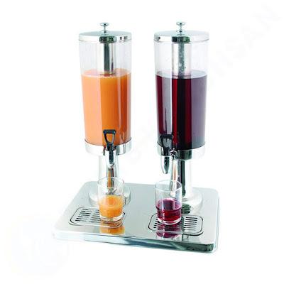 Bình nước hoa quả buffet 6 lít 2 ngăn inox 18/10 121315