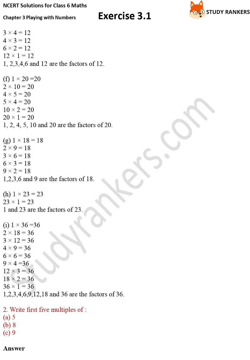 NCERT Solutions for Class 6 Maths Chapter 3 Playing with Numbers Exercise 3.1 Part 2
