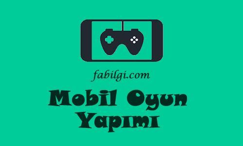 Mobil Oyun Yapma Uygulaması Bedava ve Kolay Program 2021